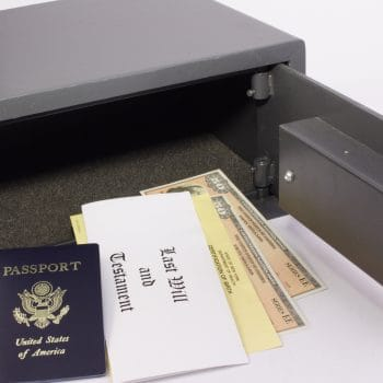Eurograde safe with important home documents