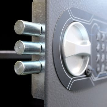 Code lock on the safe door