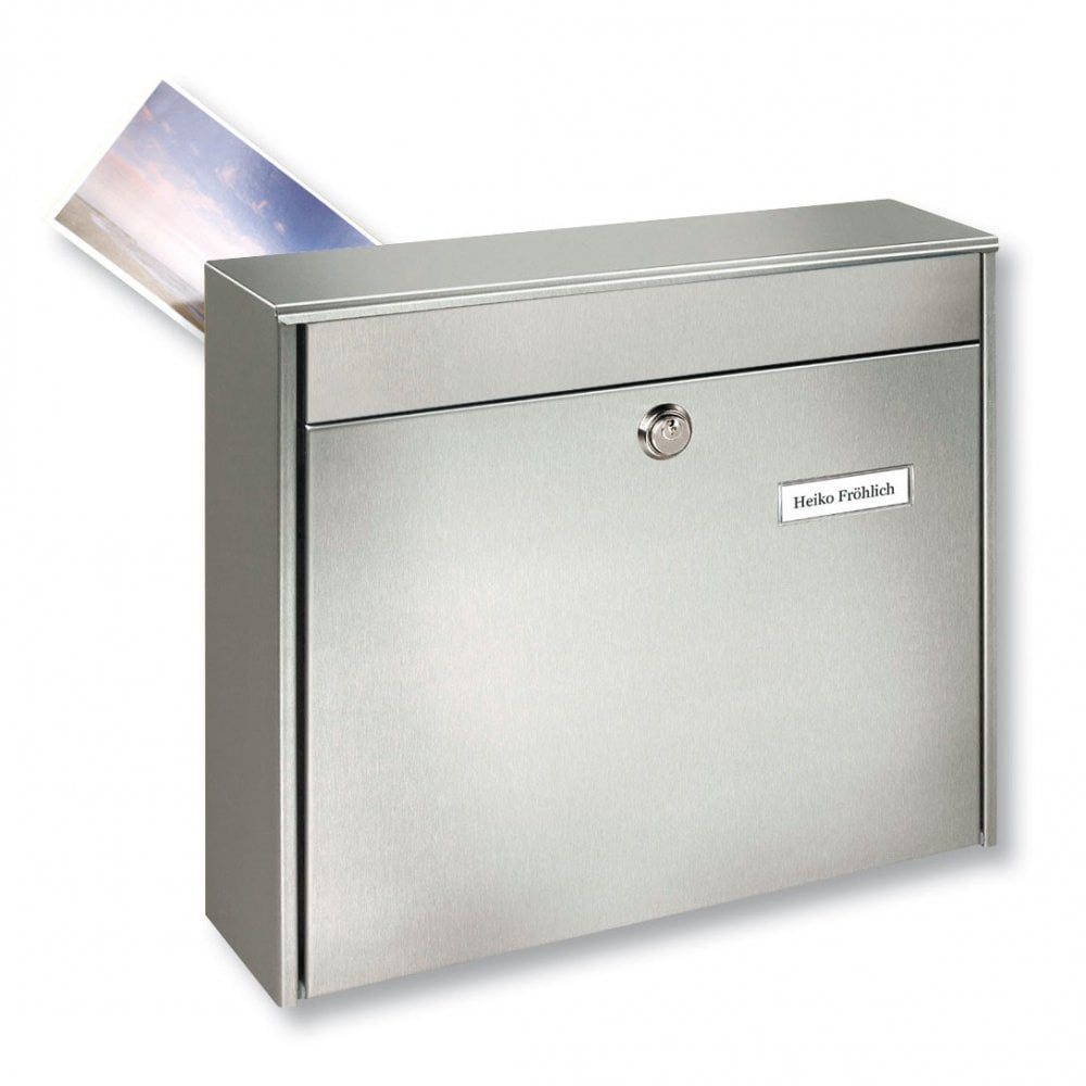 Rear Access Letter Box.Borkum Rear Access Stainless Steel Post Box