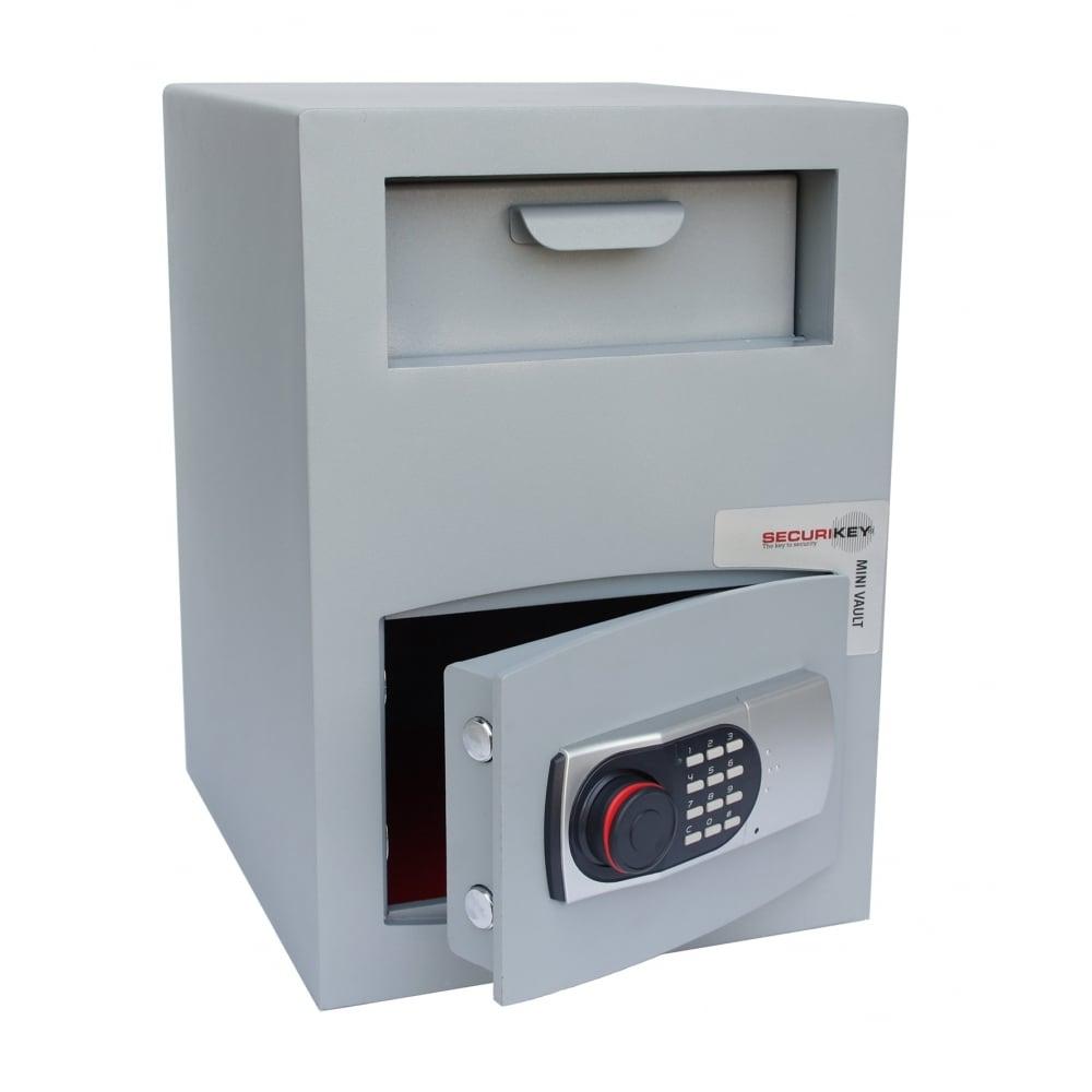 Securikey Mini Vault Silver Deposit Safe 2ed Drawer Deposit
